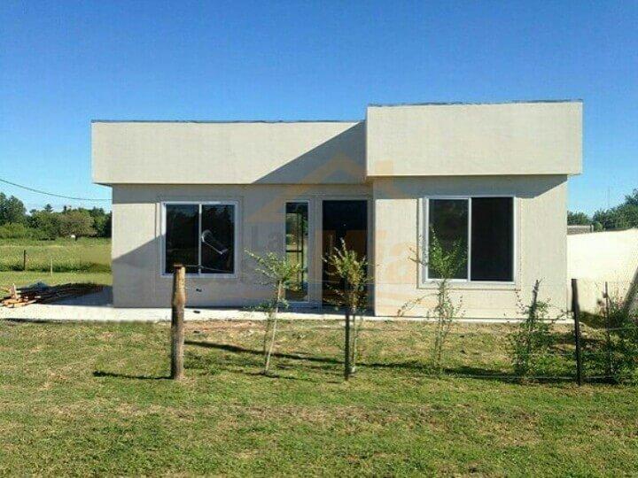 Casa prefabricada de 50 m2 2 dormitorios minimalista la for Casa minimalista 2 dormitorios